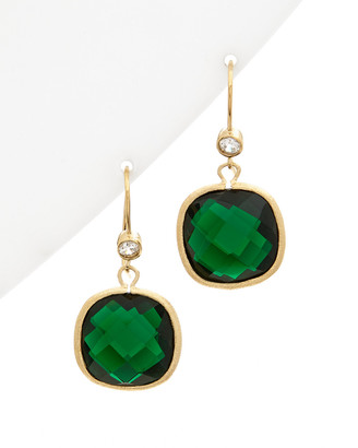 Rivka Friedman 18K Clad Simulated Diamond & Crystal Drop Earrings