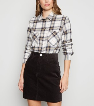 New Look Cord High Waist Mini Skirt