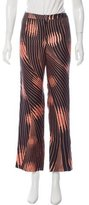 Gianni Versace High-Rise Abstract Print Pants
