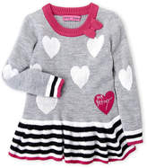Betsey Johnson Toddler Girls) Hearts Peplum Tunic Sweater