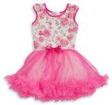 Popatu Girls 2-6x Sequined Floral Dress