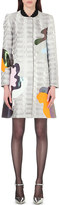 Mary Katrantzou A-line metallic-brocade coat