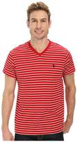 U.S. Polo Assn. Thin Stripe V-Neck T-Shirt
