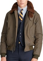 Polo Ralph Lauren Shearling Collar Bomber Jacket