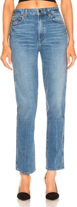 KHAITE Victoria Straight Leg Jean in Blue | FWRD