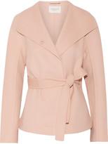 Halston Asymmetric wool-blend coat