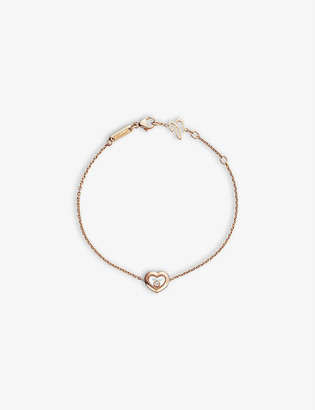 Chopard Happy Diamonds Icons 18ct rose-gold and 0.05ct diamond bracelet
