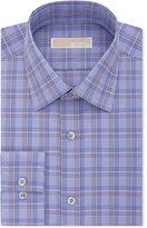MICHAEL Michael Kors Men's Classic-Fit Non-Iron Purple Check Dress Shirt