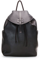 Alexander McQueen Stud-Skull Leather Backpack, Black