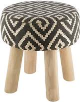 Casa Uno Natural Tribal Trend Tyne Cotton Printed Stool