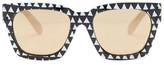 MinkPink Women&s Mono Madness Polycarbonate Frame Sunglasses