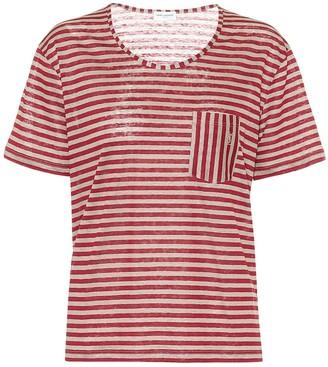 Saint Laurent Striped linen T-shirt