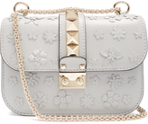 Valentino Lock small flower-embellished leather shoulder bag