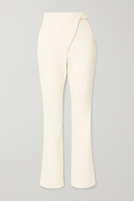 Coperni Paneled Stretch Cotton-blend Bootcut Pants - Pastel yellow
