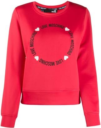 Love Moschino Round Lettering logo sweatshirt