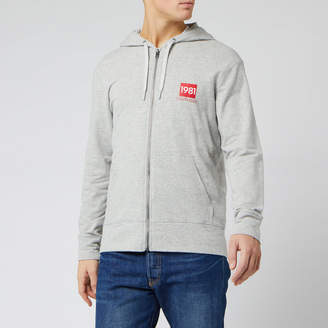 Calvin Klein Men's Full Zip Chest Logo Hoodie
