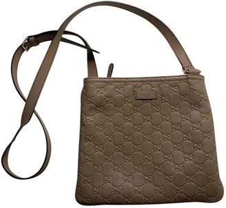 Gucci GG Running Camel Leather Handbags