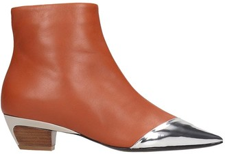 N°21 N.21 Low Heels Ankle Boots In Leather Color Leather