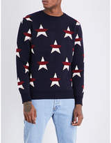 MAISON KITSUNÉ Star-pattern wool and cashmere jumper