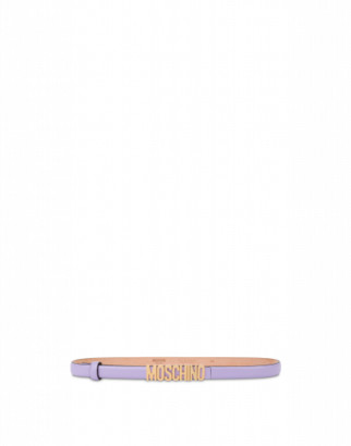 Moschino Belt With Mini Lettering Logo Woman Purple Size 38 It - (4 Us)