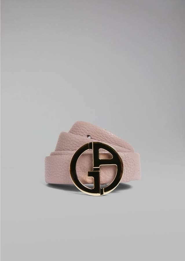 Giorgio Armani Reversible Leather Belt With Metal Logo