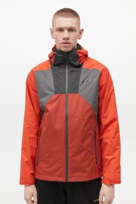Columbia Wildfire Grey Rain Jacket - Orange S at Urban Outfitters
