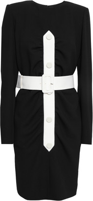 Givenchy Belted Wool-crepe Mini Dress