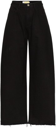 Marques Almeida High-Rise Wide-Leg Jeans