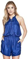 GUESS Women's Jasmine Lace-Up Romper
