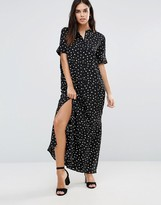 Vila Short Sleeve Maxi Shirt Dress