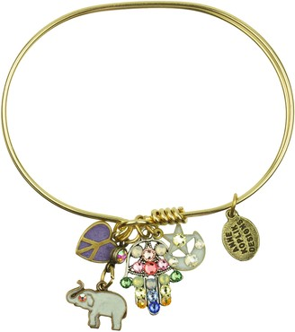 Anne Koplik Luck and Peace Jumble Bangle Bracelet