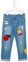 Stella McCartney 'Dandy' badge embroidered jeans