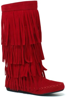 Yoki Mudd 55 Women's Tall Fringe Boots