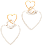 Eddie Borgo Locked Heart Earrings