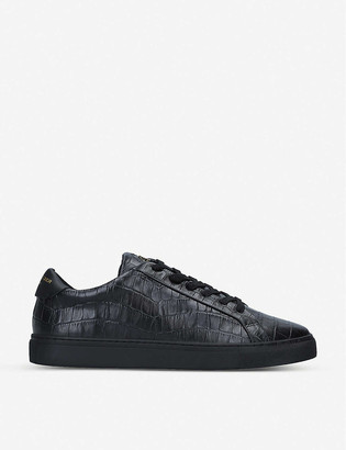 Kurt Geiger Donnie croc-embossed leather low-top trainers