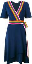 Tory Burch striped trim dress - women - Polyester - 6