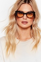 Nasty Gal Womens Cat Your Eye Contrasting Thick Sunglasses - black - One Size