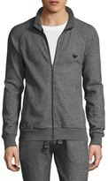 Emporio Armani French Terry Athletics Zip Up Pajama Top