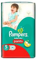 Pampers Baby-Dry Pants Size 5 Essential Pack 36 Nappies - Pack of 2
