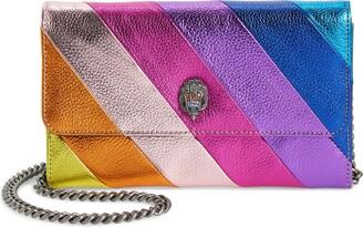 Kurt Geiger Stripe Leather Chain Wallet