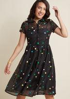 ModCloth Doting on Dots Midi Shirt Dress in XL
