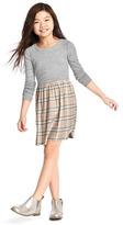 Gap Plaid mix-fabric dress