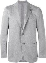 Lardini three-button blazer - men - Cotton/Viscose/Cupro - 50