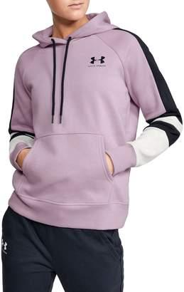 Under Armour Rival Cotton-Blend Fleece Logo Novelty Hoodie