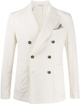 Manuel Ritz Double-Breasted Suit Jacket