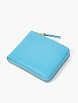 Comme des Garcons Blue Classic Leather Zip Wallet