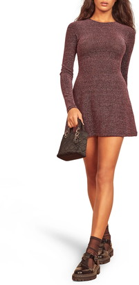 Reformation Riley Long Sleeve Minidress