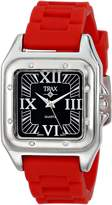 Trax Women's TR5132-BR Posh Square Red Rubber Dial Watch