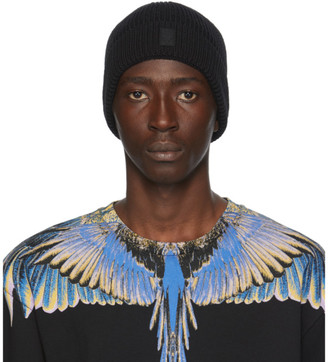 Marcelo Burlon County of Milan Black Cross Patch Beanie