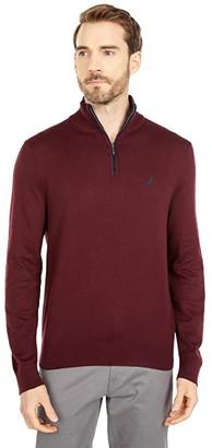 Nautica Navtech 1/4 Zip Sweater (True Black) Men's Sweater